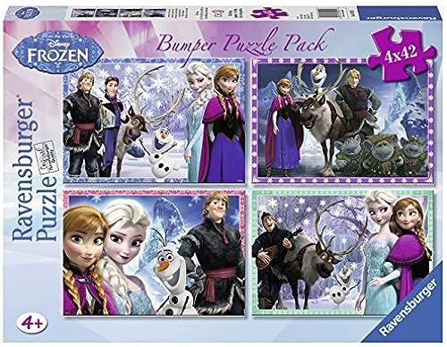 nuevo listado Disney Frozen 4X 42 Piece Jigsaw Puzzle Bumper Pack Pack Pack by Disney Frozen  Las ventas en línea ahorran un 70%.