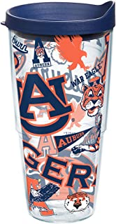 Tervis 1239074 NCAA Auburn Tigers All Over Tumbler with Lid, 24 oz, Clear