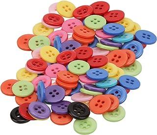 Botões de resina de costura, use facilmente botões para costura de roupas(12,5 MM (4 olhos))
