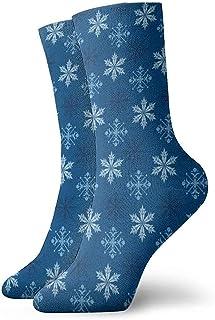 Dydan Tne, Patrón de Copos de Nieve de Navidad Calcetines de Vestir Calcetines Divertidos Calcetines Locos Calcetines Casuales para niñas Niños