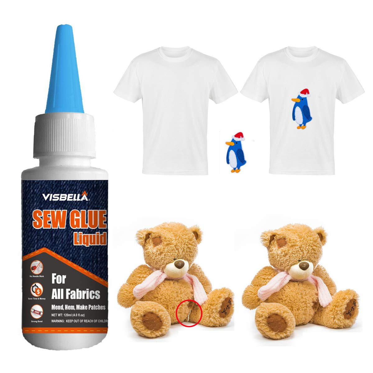 Visbella Reinforcing Adhesive Clothing Polyester