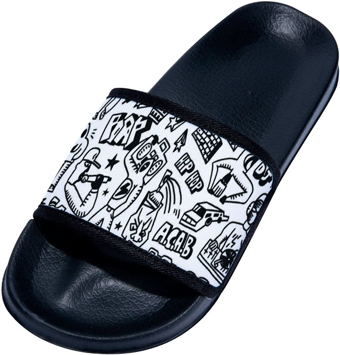 Buteri Doodle Graffiti Slippers Non-Slip Quick-Drying Slippers for Womens