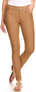 Women's Stretch Jeggings with Pockets Slimming Cotton Pull On Jean Like Leggings Regular-Plus Size