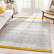 """Well Woven Cheva Gold Kilim-Style Weave Tribal Stripes Area Rug 5x7 (5'3"""" x 7'3"""")"""