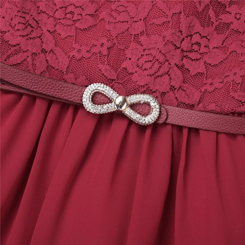 6-14 Years Summer Tulle Lace Tutu Girls Flower Dress Baby Girl Kids Gift Dress Children,Orange,12