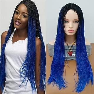 black blue wigs