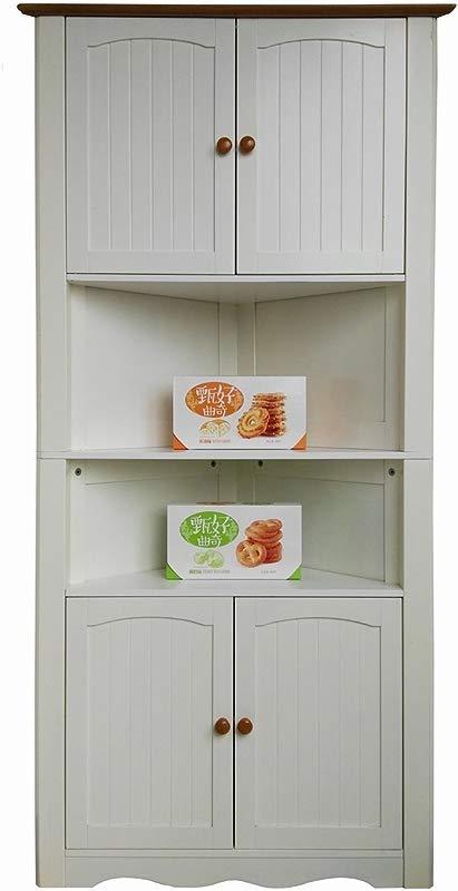 Homecharm Intl 31 1x15 74x63 78 Inch Corner Cabinet White HC 003A