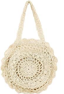 FiveloveTwo Women Handbag Satchel Large Crochet Shoulder Straw Beach Top Handle Tote Bag