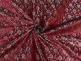 Puresilks Brokat-Stoff, mit rot-gold, 60cm bro489,