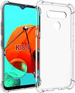 SKTGSLAMY LG K51 Case,LG Reflect Case,LG Q51 Case, Soft TPU Case Crystal Transparent Slim Anti Slip Case Back Protector Case Cover for LG K51 (Clear)