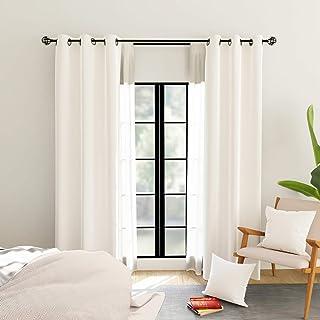 Encasa Homes Room zaciemniające zasłony termoizolacyjne (2 panele z 2 poszewkami na poduszki) gładkie kolory do łóżka i sa...