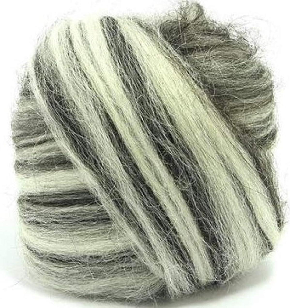 4 oz Paradise Fibers Icelandic Wool Top - Humbug Blend - Perfect for Woolen Yarn & Needle Felting