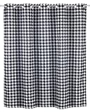 WENKO Cortina de baño anti-moho Fashion Flex - Antibacteriana, impermeable, lavable, resistente al moho con dispositivo integrado para colgar, Poliéster, 200 x 180 cm, Negro