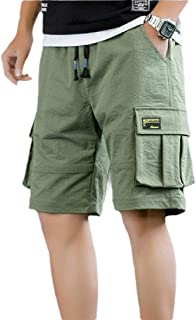 maweisong Men Lightweight Multi Pocket Casual Cargo Shorts Outdoor Cotton Shorts
