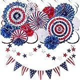 Set de decoración para fiestas (15 unidades, 4 de julio de American Independence Day Flag)