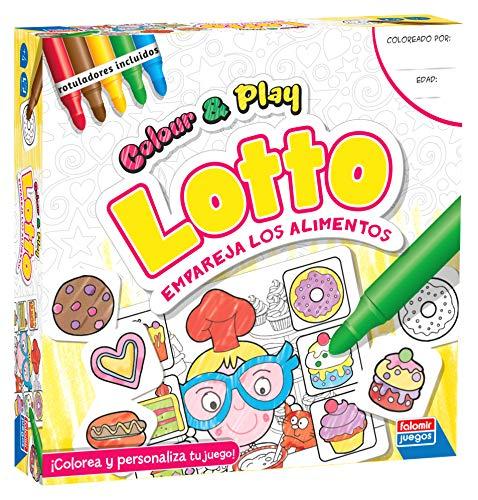 Falomir Color & Play Lotto, Juego de Mesa, Manualidades, Multicolor (1)