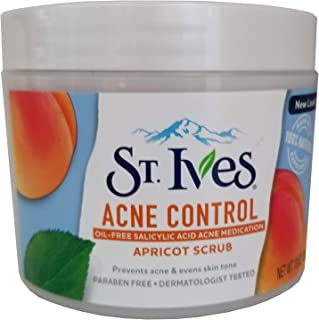 St. Ives Acne Control Apricot Scrub 10 oz (Pack of 5)