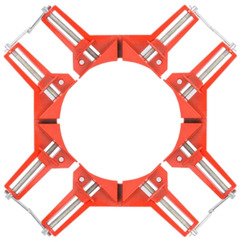 スクリュー上げる利点Alioay コーナー クランプ アングル クランプ 90° 直角定規 木工用?固定?溶接?接着?切断 固定器具 4個 セット