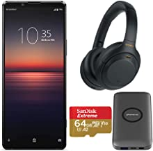 Sony Xperia 1 Mark II Unlocked Smartphone with Sony WH-1000XM4 Wireless Noise Canceling Headphones (Black), Wireless Charg...
