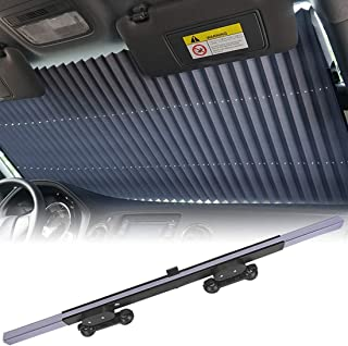 car sunshades for Windshield, Retractable car Sun Shade, Sunshade to Keep Your Vehicle Cool and Damage Free, UV Sun and He...