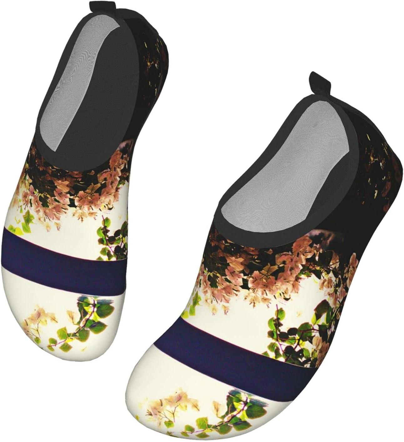 NA Flowers in The Sunset Men's Women's Water Shoes Barefoot Quick Dry Slip-On Aqua Socks for Yoga Beach Sports Swim Surf
