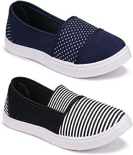 WORLD WEAR FOOTWEAR Women's (11022-11031) Multicolor Casual Leafers Shoes (Set of 2 Pair)