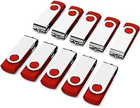 KEXIN 10 Pack 2GB USB Flash Drive 2 GB Thumb Drive Memory Sticks Jump Drive Pen Drive Zip Drive (USB 2.0, Red)