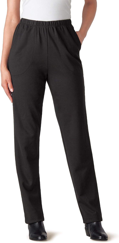 Woman Within Women's Plus Size Straight Leg Ponte Knit Pant