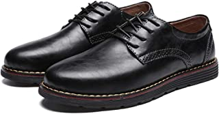 Men`s Dress Shoes Genuine Leather Oxford Formal Classic Causal Shoes Round Toe Lace up Loafers Walk Business Shoes