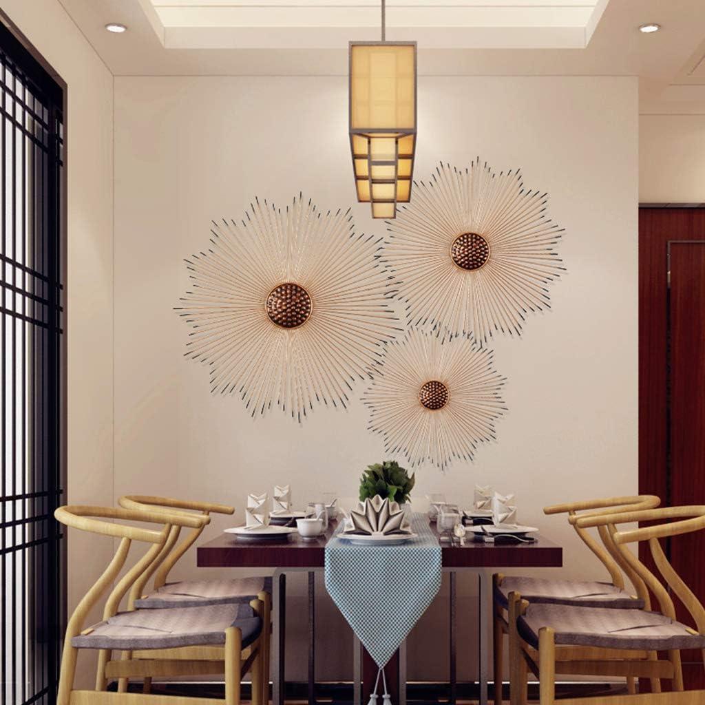 D/écoration De Tenture Murale De Fleur De Soleil en Fer Forg/é Wall Sculptures Tentures Murales en M/étal /à La Maison De Salon Size:50cm