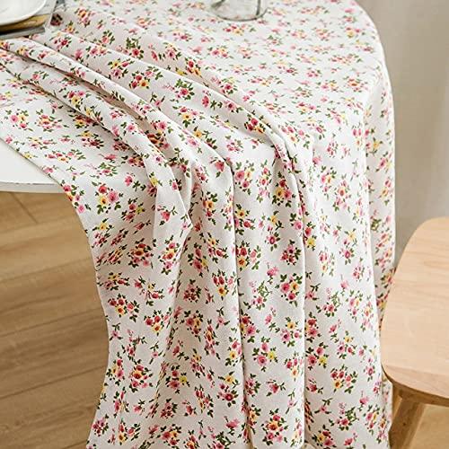 Mantel Floral Mantel de Lino de algodón para Mesa Nappe de Table Cubierta de Mesa Manta de Picnic- Rojo, 100x150cm, a1