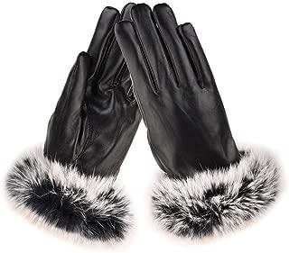 SGJFZD Women Winter Gloves Outdoor Waterproof Touch Screen Fit Elegant Gloves for Walking Cycling Ridding Windbreak Gloves (Color : Black, Size : OneSize)