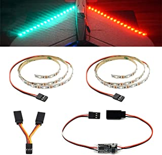 elechawk Remote Controlled LED Light Strip for RC Fixed Wing Airplane Flying Wing Plane AR Wing Drone Model Car Truck