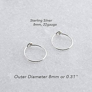 helix earrings sterling silver