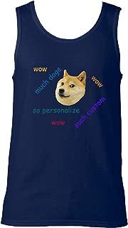 indokyeyqaz Men's Doge Meme Personalized Cool Funny Graphic Tank Top Shirts Unisex Workout Sleeveless Tees