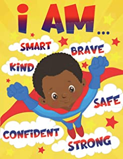 I Am: Empowering African American Coloring Book for Boys with Positive Affirmations | for Little Black & Brown Boys with N...