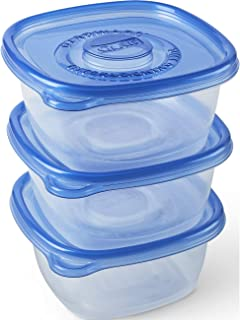Glad Food Storage Containers - Tall Entrée Container - 42 Ounce - 3 Containers