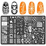 AirSMall 5pcs Halloween Nail Stamp Plates Set with Various Patterns (Spider...
