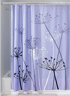 InterDesign Thistle Shower Curtain, Standard – Purple and Gray
