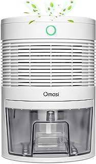 Omasi Deshumidificador electrico 600ml,Portátiles Deshumidificadores Absorben Agua 300 ml / 24 h,apagado automático, para Hogar Salón Habitación Oficina Blanco