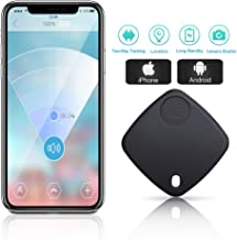 Key Finder Locator - Smart Tracker Bluetooth Finder with App for Phone Keychain Wallet Purse Luggage Suitcase Bag Anti-Lost Alarm GPS Reminder Tracking Device Replaceable Battery Item Finder (Black)