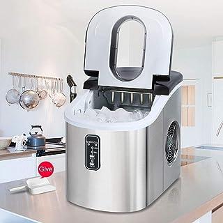 ZJZ Máquina de Hielo automática portátil, máquina de Helados de encimera de Acero Inoxidable, máquina de Cubitos de Hielo ...