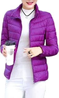 Macondoo Women Slim Puffer Quilted Outwear Cotton-Padded Down Jacket