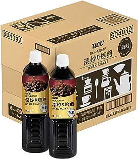【Amazon.co.jp限定】UCC 職人の珈琲 深炒り焙煎 無糖 コク深め ペットボトル 900ml×12本