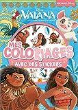 Vaiana, la légende du bout du monde : Mes coloriages avec des stickers