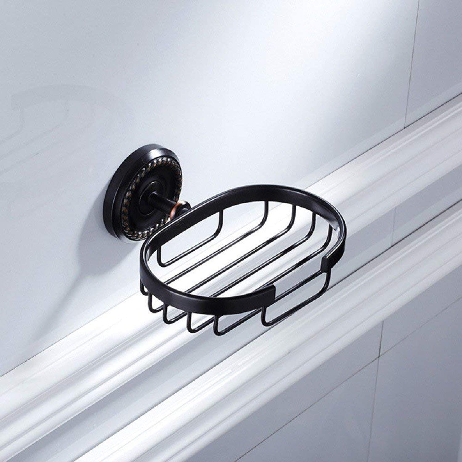 Towel Rack Combination Suit Black Antique Towel Rack Full Copper Combination Suit Towel Rack Bathroom Towel bar Wall Hanging,Soap Network Bathroom Towel Shelf (color   Soap Network)