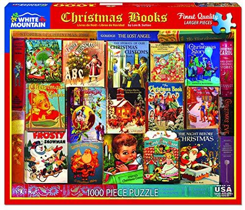 White Mountain Puzzles Christmas Books 1000 Piece Puzzle, 1 EA