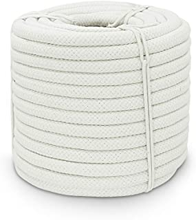 Aoneky Braided Cotton Rope (3/8 inch x 200 ft)