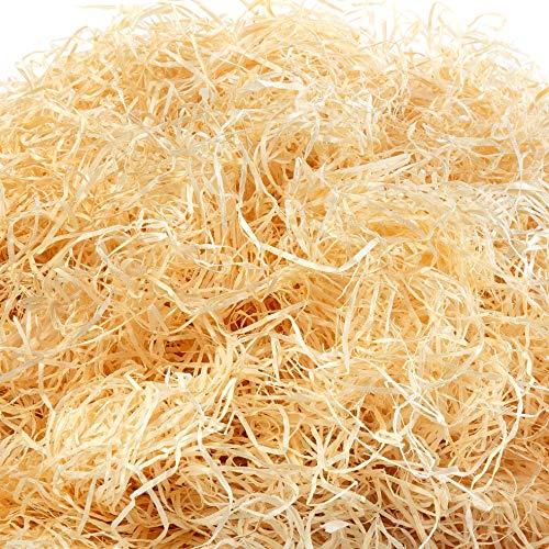 Holzwolle Fichte natur im 1000g Beutel, Füllmaterial, Osternestmaterial, Füllmaterial für Präsentkörbe (natur)