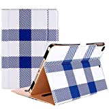 ProCase iPad 9.7 Case 2018/2017 iPad Case - Stand Folio Cover Case for Apple iPad 9.7 inch, Also Fit iPad Air 2 / iPad Air -Plaid